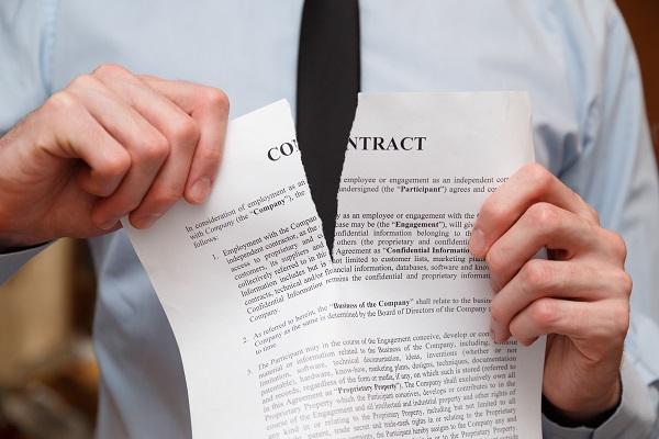 zerwana umowa - notariusz Katowice