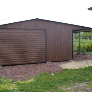 podwójny garaż